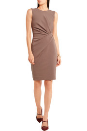 Lanvin Gathered stretch cotton-blend jersey dress