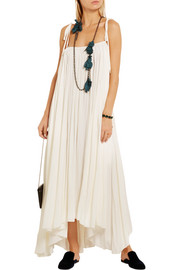 Lanvin Gathered satin midi dress