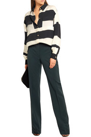 Lanvin Striped stretch-crepe shirt