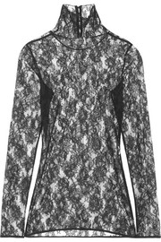Lanvin Lace turtleneck top