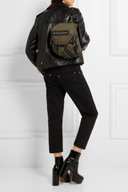 Alexander Wang Marti mini leather-trimmed canvas backpack