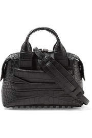 Rogue small croc-effect leather shoulder bag