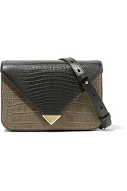 Alexander Wang Prisma small croc and lizard-effect leather shoulder bag