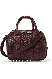 Rockie mini textured-leather shoulder bag