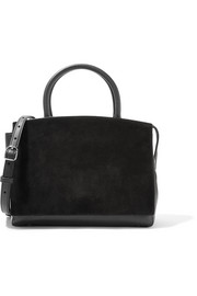 Attica textured-leather and suede shoulder bag