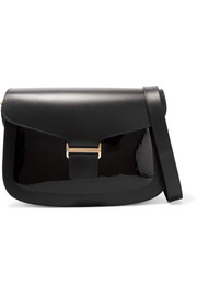 Claire matte and patent-leather shoulder bag