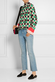Emilio Pucci Printed silk-blend georgette blouse