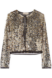 Sequined tulle jacket