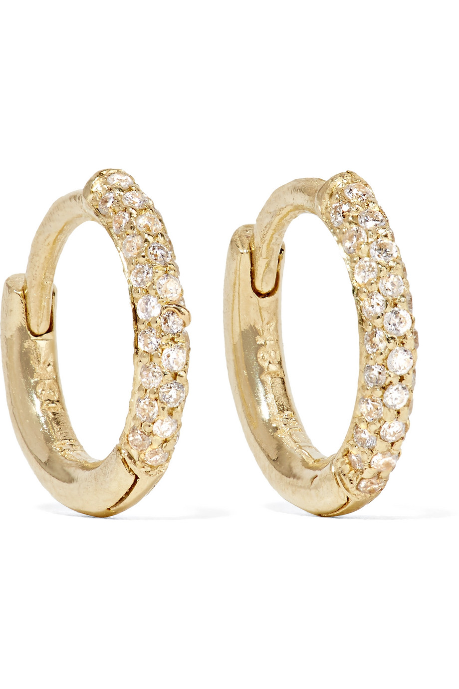 Jennifer Meyer Huggie 18-Karat Gold Diamond Hoop Earrings, Women's