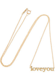 Love You 18-karat gold necklace