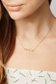 Jennifer Meyer Je T'Aime 18-karat gold necklace