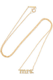 Mrs 18-karat gold diamond necklace