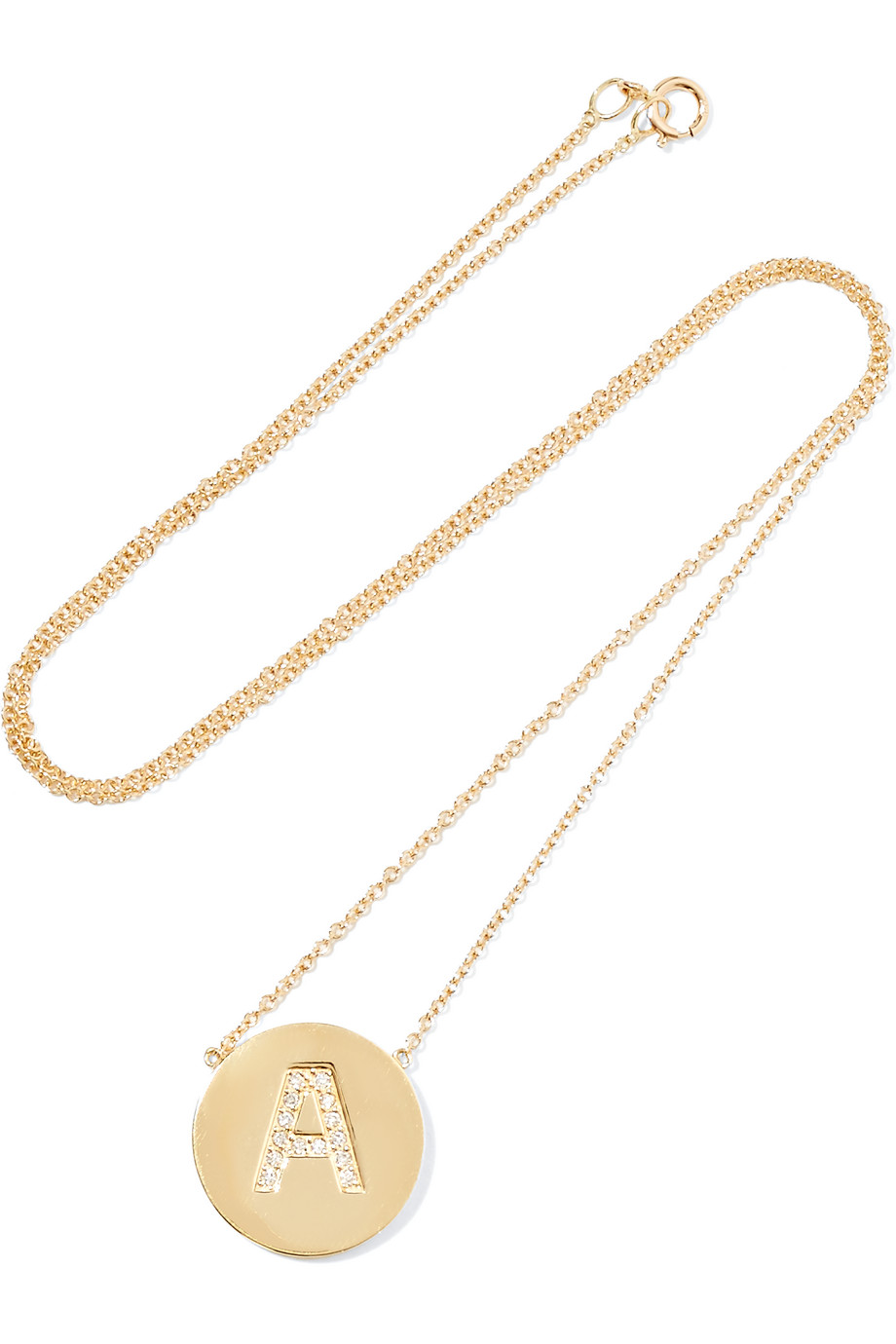 Jennifer Meyer Letter 18-Karat Gold Diamond Necklace, Women's, Size: T