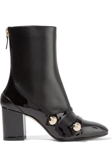 No. 21 - Studded Leather Boots - Black