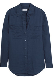 Equipment Signature linen shirt