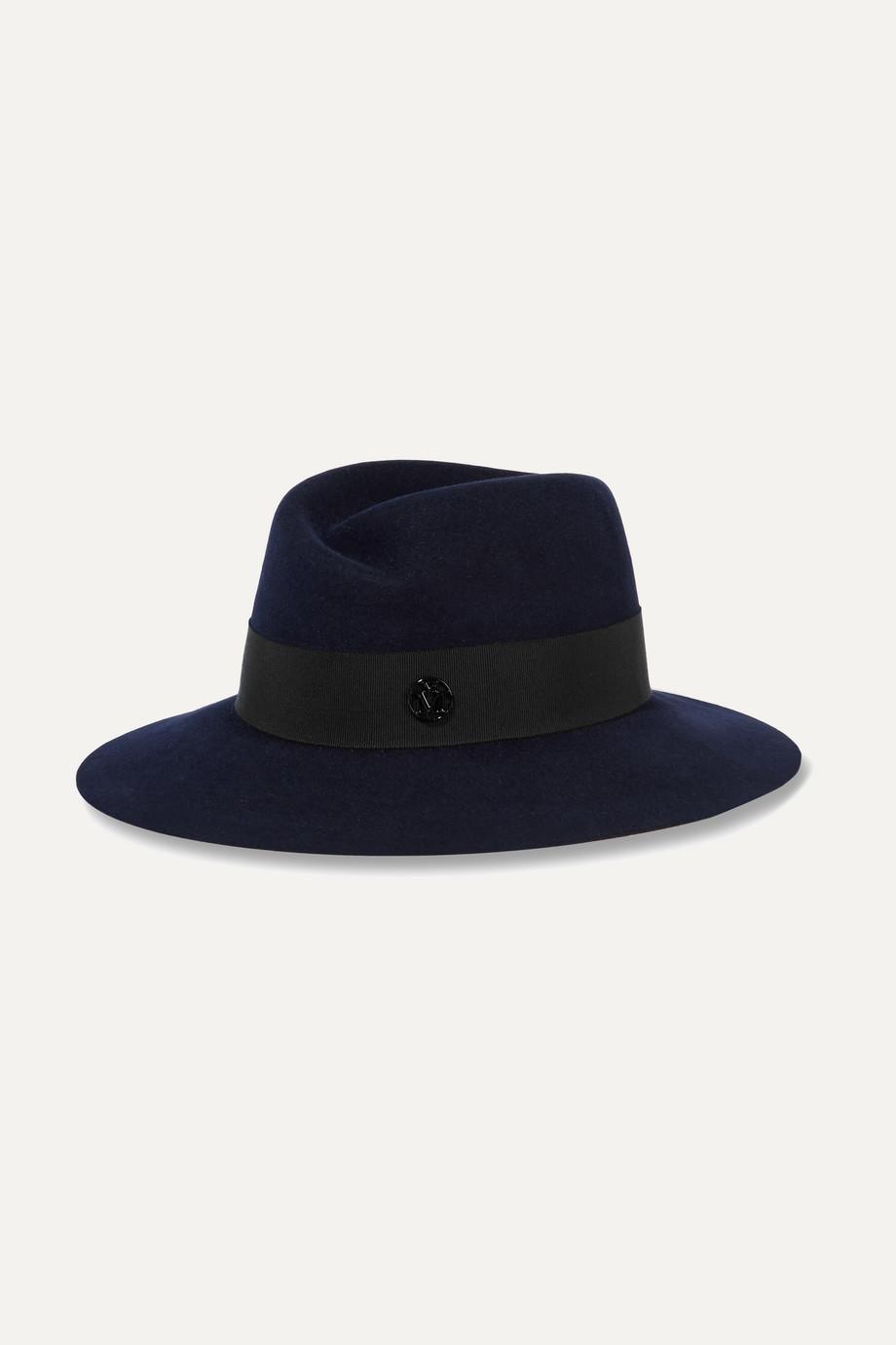 Maison Michel Virginie 兔毛毡浅顶卷檐帽