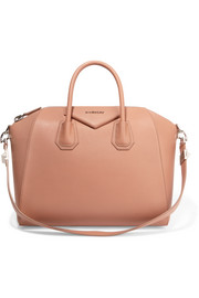 Medium Antigona bag in antique-rose textured-leather