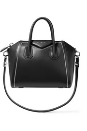 Small Antigona bag in chain-trimmed black leather