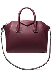 Small Antigona bag in merlot textured-leather