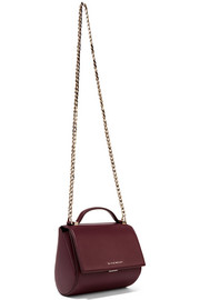 Givenchy Pandora Box shoulder bag in burgundy textured-leather