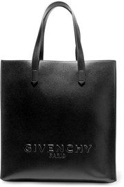 Simple tote in black leather