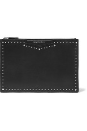 Medium Antigona pouch in studded black leather