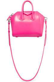 Mini Antigona shoulder bag in fuchsia leather