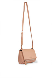 Pandora Box shoulder bag in blush textured-leather
