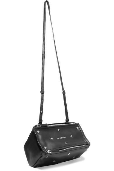 3ca360fe6f Givenchy. Mini Pandora Shoulder Bag In Embellished Black Leather