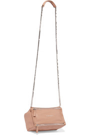 Mini Pandora shoulder bag in antique-rose textured-leather