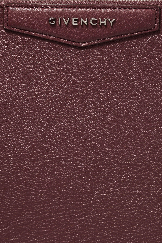 Givenchy Medium Antigona pouch in merlot textured-leather