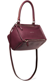 Small Pandora shoulder bag in burgundy textured-leather