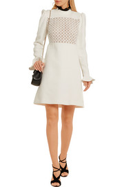 Giambattista Valli Macramé lace-paneled crepe mini dress