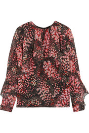 Giambattista Valli Floral-print silk-georgette top