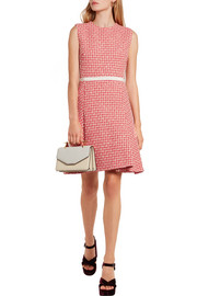 Giambattista Valli Pleated wool-blend tweed mini dress