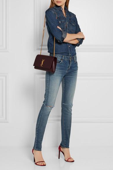 Saint Laurent Monogramme Kate Medium Textured Leather