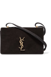 Saint Laurent Monogramme Dylan small suede and leather shoulder bag