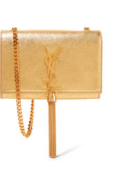 Saint Laurent Monogramme Kate small metallic textured-leather shoulder bag