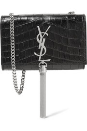 Saint Laurent Monogramme Kate small croc-effect leather shoulder bag