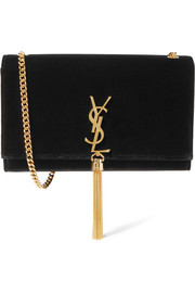 Monogramme Kate velvet shoulder bag