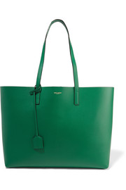 Shopping large leather tote