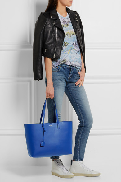 8eb846bd44d SAINT LAURENT   Shopping large textured-leather tote   NET-A-PORTER.COM
