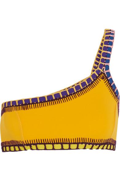 Kiini - Ro Crochet-trimmed Bikini Top - Yellow