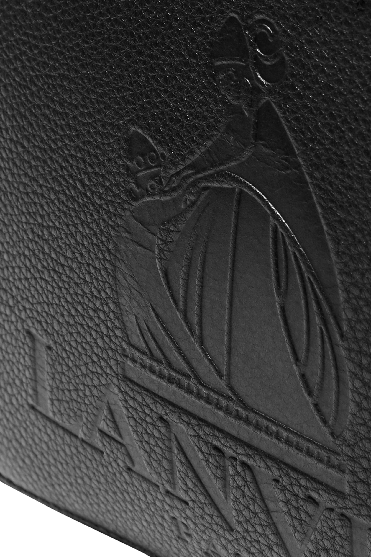 Lanvin So Lanvin embossed textured-leather shoulder bag