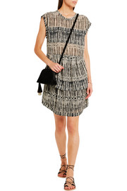 IRO Klotie ruffled printed georgette dress