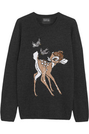 Markus Lupfer Bambi sequin-embellished merino wool sweater