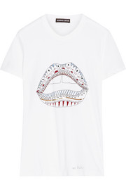 Markus Lupfer Kate sequin-embellished cotton-jersey T-shirt