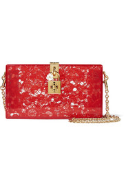 Dolce & Gabbana Lace and Perspex box clutch