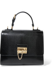 Dolce & Gabbana Monica medium lizard-effect leather tote