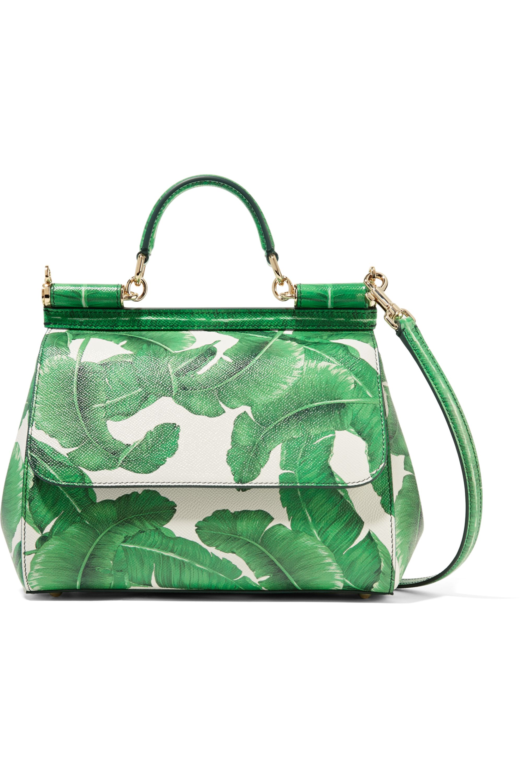 Dolce & Gabbana Sicily medium printed textured-leather tote